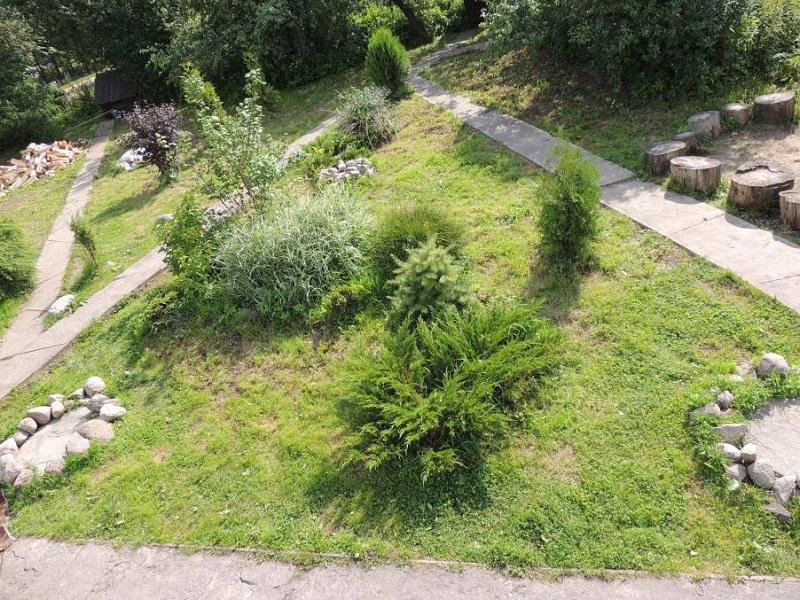 Усадьба окружена зелеными насаждениями
